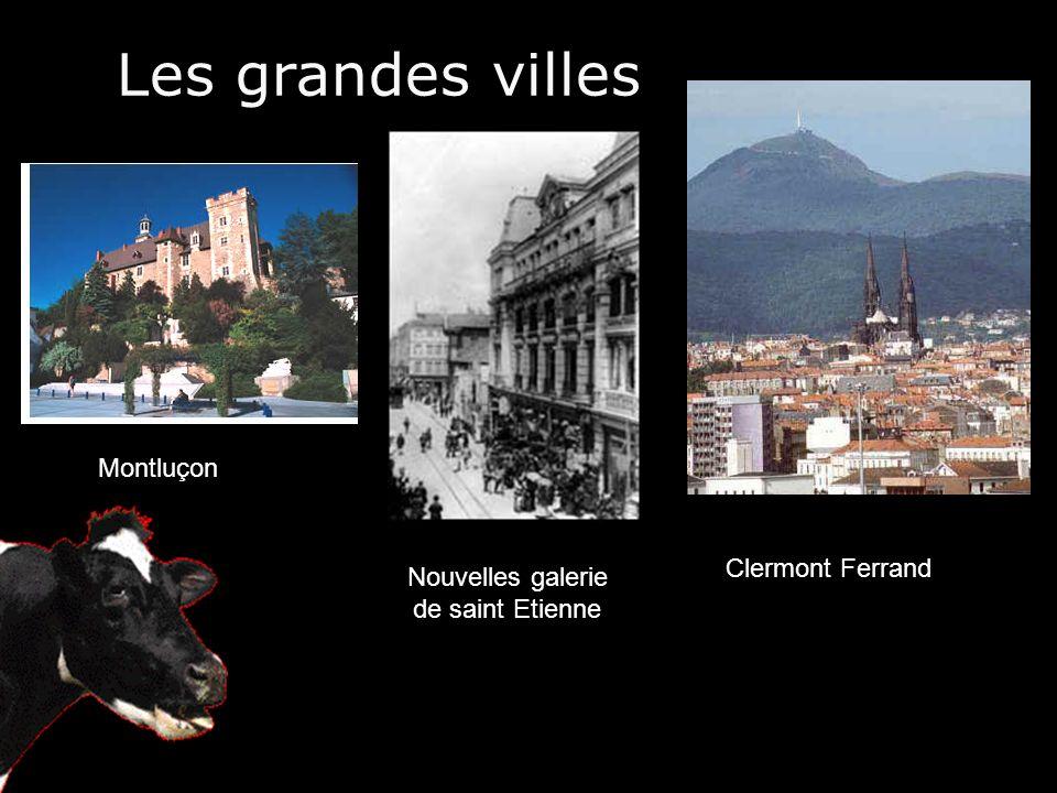 Les grandes villes Clermont Ferrand Nouvelles galerie de saint Etienne Montluçon