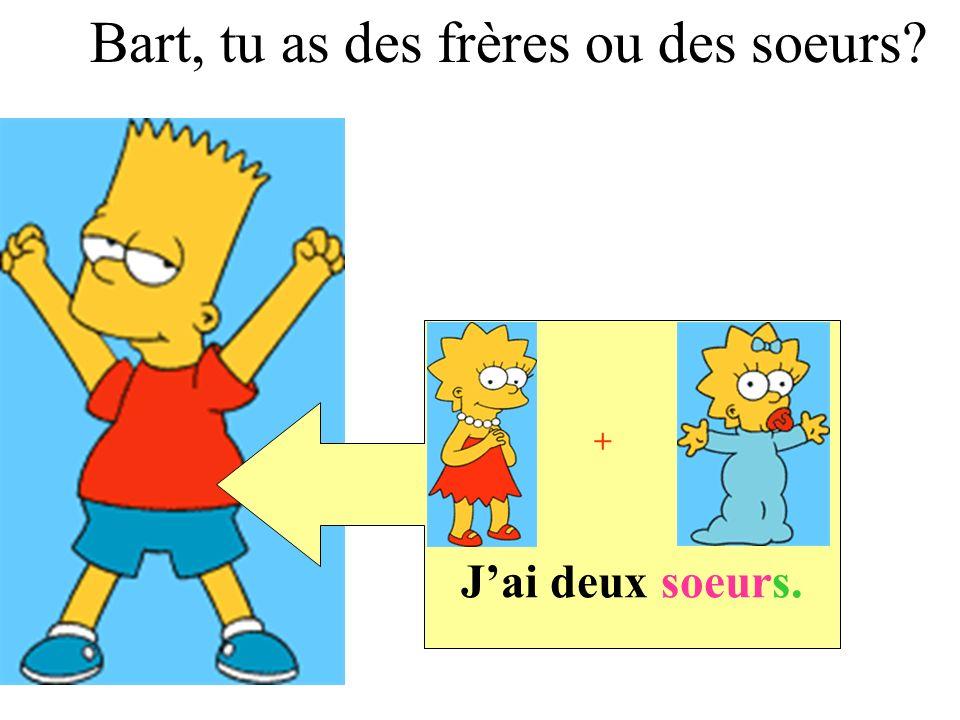 Jai un frère et une soeur. + Lisa, tu as des frères ou des soeurs?