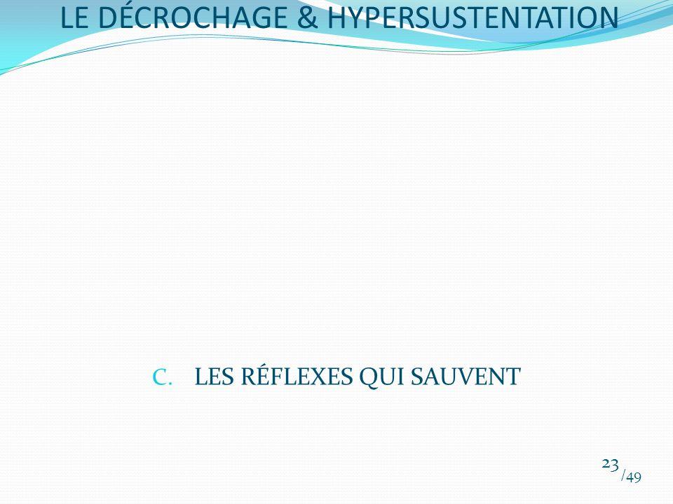 C. LES RÉFLEXES QUI SAUVENT /49 23 LE DÉCROCHAGE & HYPERSUSTENTATION