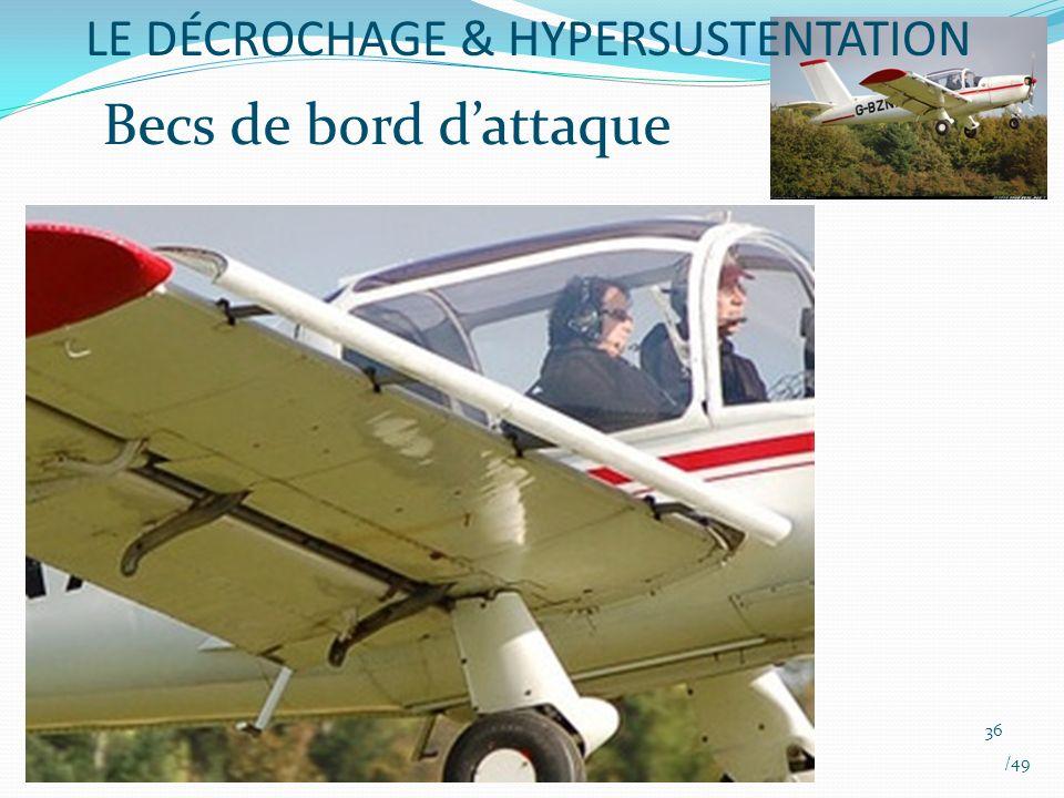 Becs de bord dattaque LE DÉCROCHAGE & HYPERSUSTENTATION 36 /49