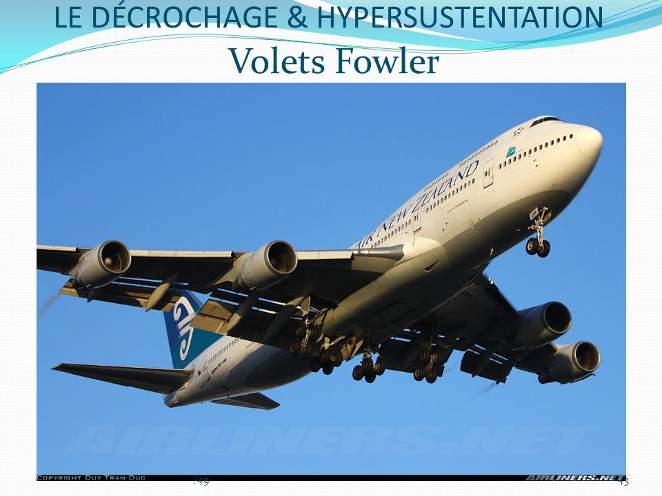 Volets Fowler LE DÉCROCHAGE & HYPERSUSTENTATION 43/49