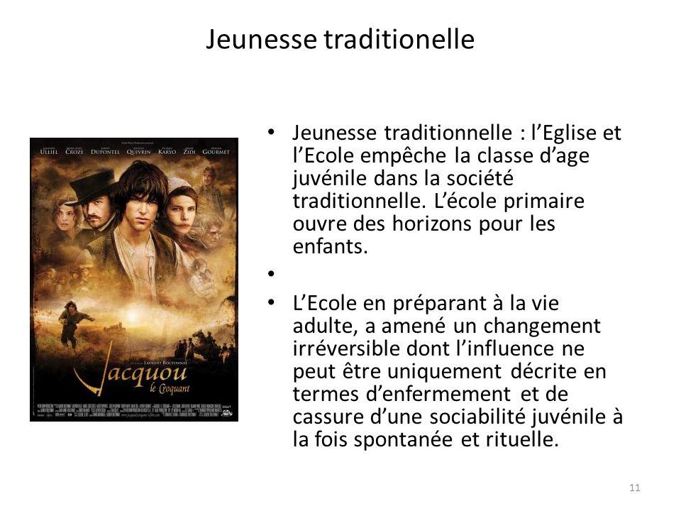 Jeunesse traditionelle Jeunesse traditionnelle : lEglise et lEcole empêche la classe dage juvénile dans la société traditionnelle.