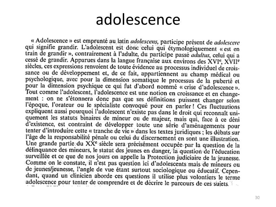 adolescence 30