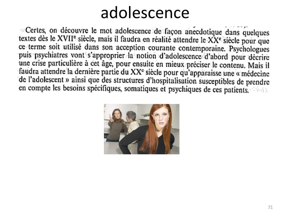 adolescence 31