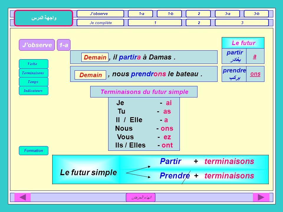 Unité 1 / B Le sport et la télévision 3ème Séance انهاء العرض Jobserve1-a Je complète12 واجهة الدرس 1-b2 3 3-a3-b