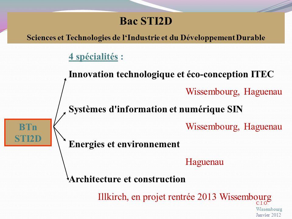 ITEC : Innovation Technologique et Eco-Conception Etudier et rechercher des solutions techniques innovantes (systèmes réels existants, démarche de créativité, CAO, résistance des matériaux…) Intégrer la dimension design et ergonomie (logiciels de simulation, systèmes virtuels,…) Analyser, concevoir un système (prototypage, conception 3D, modélisation…) Adopter une démarche de développement durable