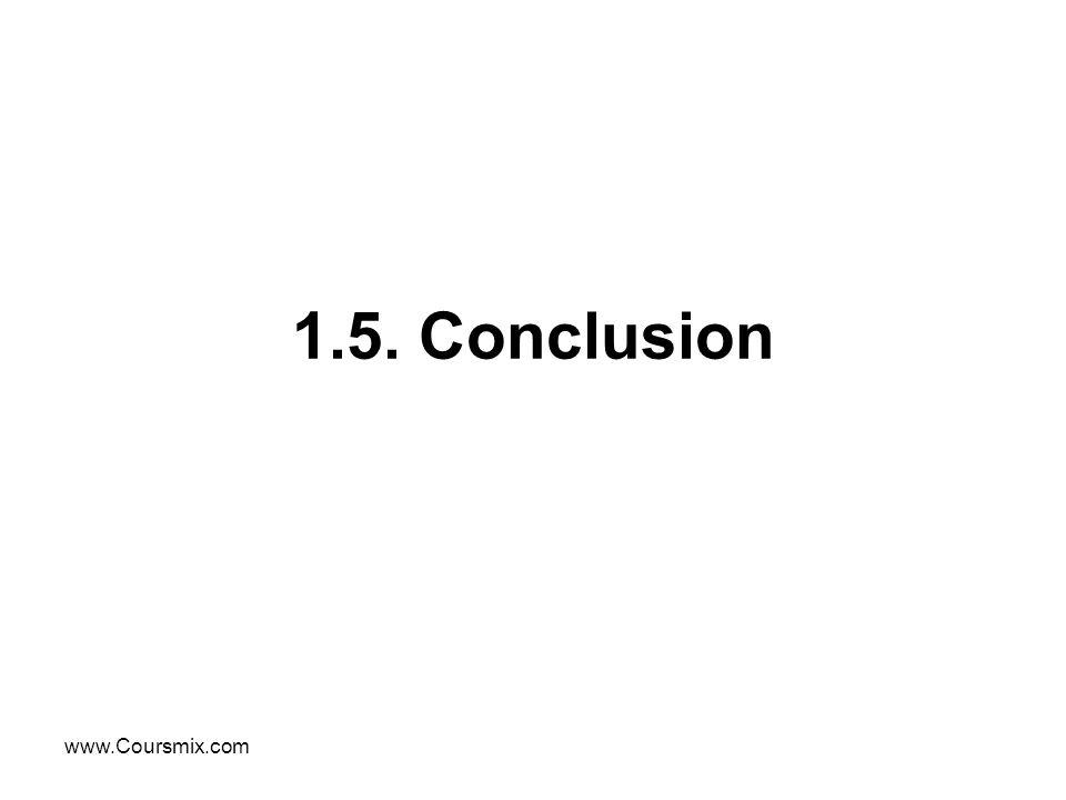 www.Coursmix.com 1.5. Conclusion