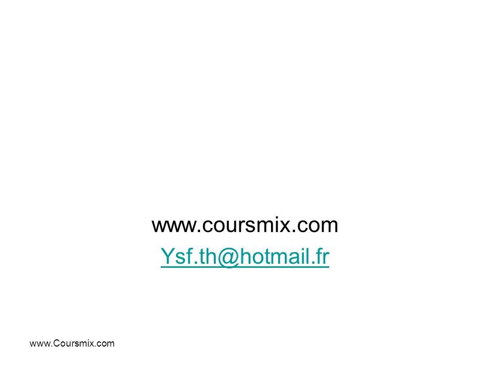 www.Coursmix.com www.coursmix.com Ysf.th@hYsf.th@hotmail.fr
