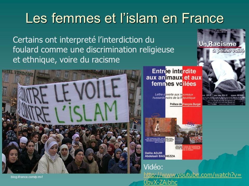 Les femmes et lislam en France Certaines organisations féminines militent CONTRE le foulard Certaines organisations féminines militent CONTRE le foula