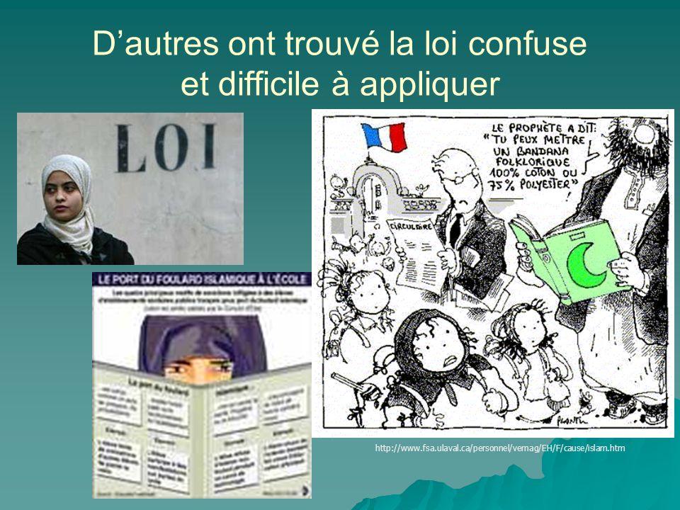 Les femmes et lislam en France blog.ifrance.com/p-m-f Certains ont interpreté linterdiction du foulard comme une discrimination religieuse et ethnique