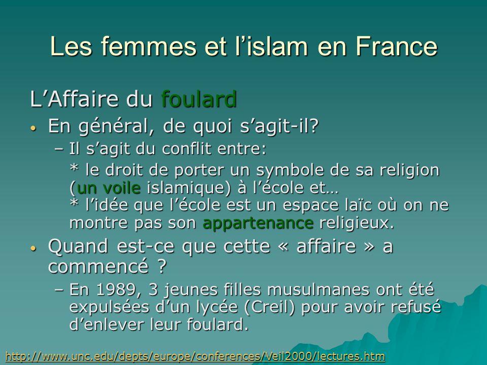 Les musulmans et la politique en France La laïcité La séparation de létat et la religion sest faite par étapes (avec parfois des retours en arrière) L