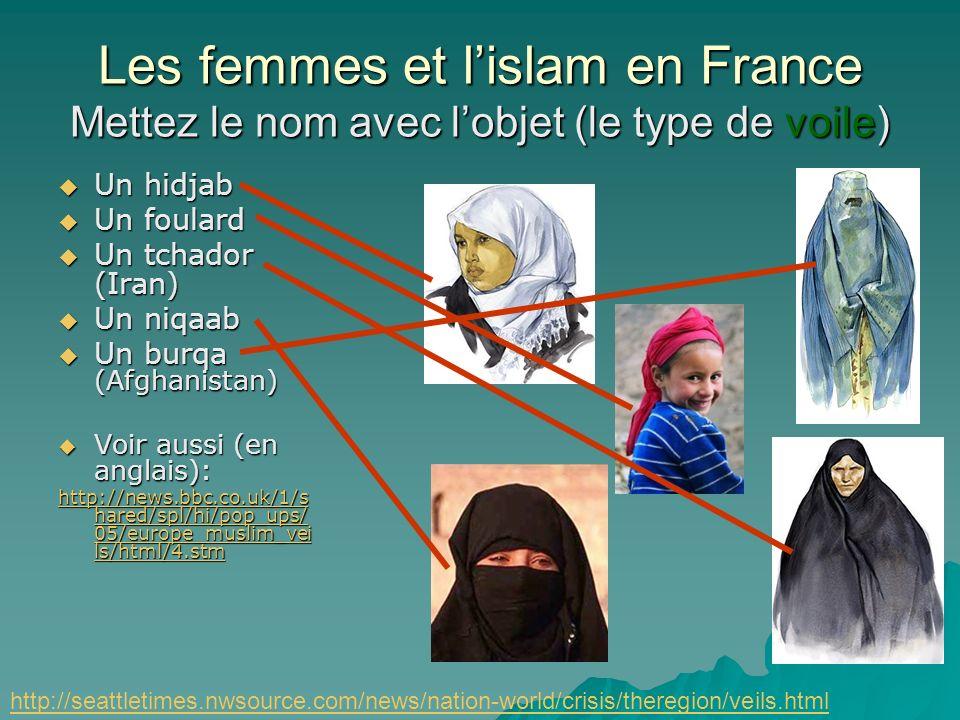 Les femmes et lislam en France Est-ce que laffaire du foulard sest résolu? –En 1994 le circulaire Bayrou a déclaré: « Le port ostentatoire de tout sig