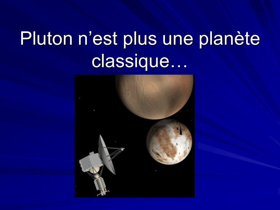 Pluton nest plus une planète classique…