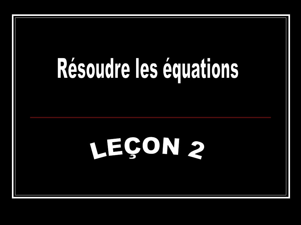 Résous: 2x – 4 + 3x = 16 Réponse: 2x – 4 + 3x = 16 2x + 3x – 4 = 16 5x = 16 + 4 5x = 20 5x 55x 5 = 20 5 x = 4 Choses à se rappeler Choses à se rappeler: As-tu isoler la variable.