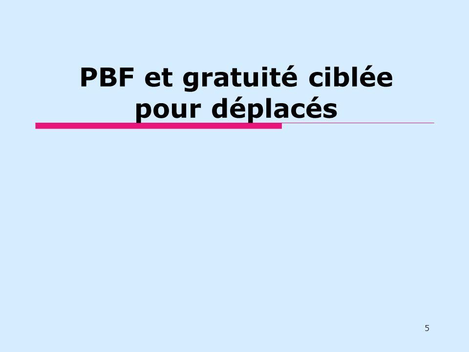 PBF et gratuité ciblée pour déplacés 5