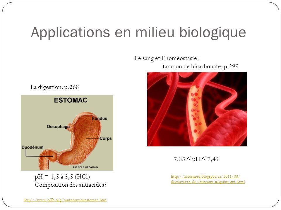 Applications en alimentaire http://www.infetech.com/article.php3?id_article=207 H 3 PO 4 http://www.lecoinbio.com/20090306728/ blogs/cosmetiques-bio/du-jus-de-citron- pour-faire-briller-les-cheveux.html CH 3 CHOHCOOH http://kampai.radio-canada.ca/recettes/recette/225