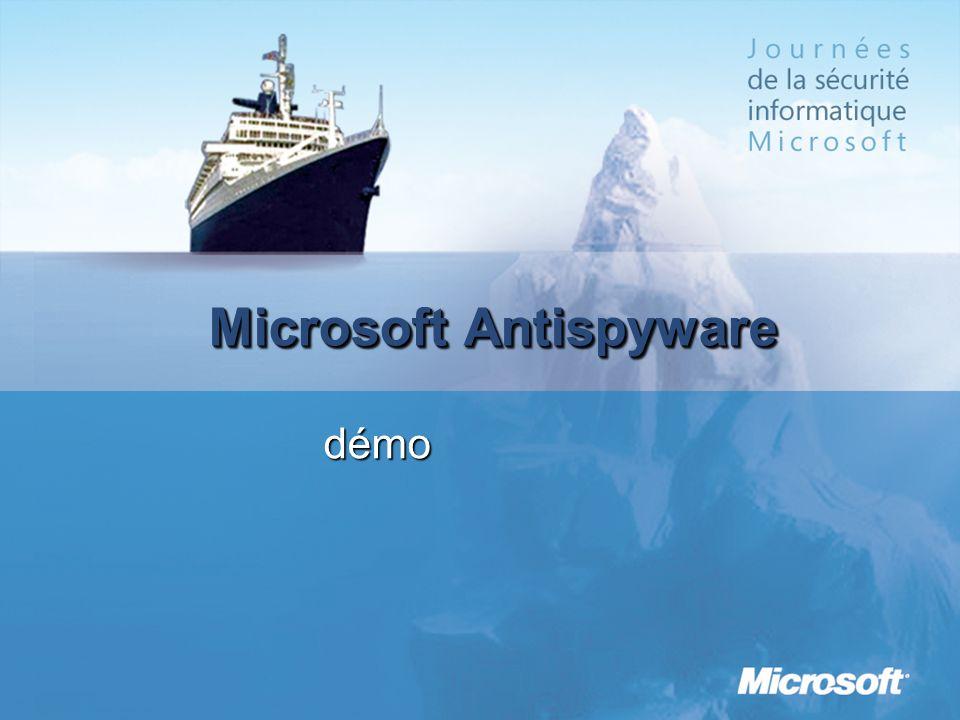 Microsoft Antispyware démo