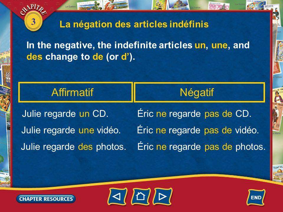 3 4. Tu __________ ce livre? (aimer) Answer: aimes 5. On __________ des CD laprès-midi. (écouter) Answer: écoute Les verbes réguliers en -er au présen