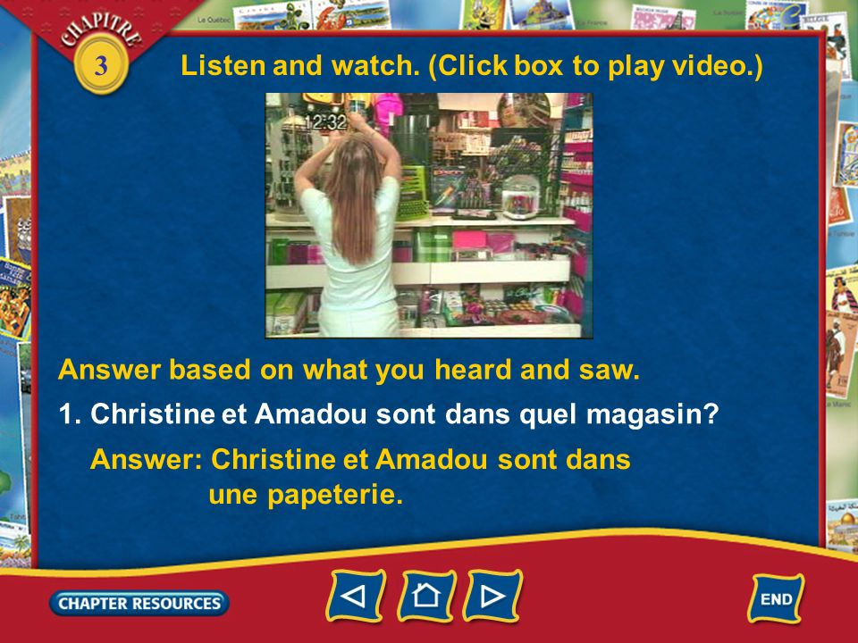 3 Verbe + infinitif 4. Ils adorent __________ des DVD. Answer: regarder 5. Nous aimons __________ la journée à lécole. Answer: passer Complete with an