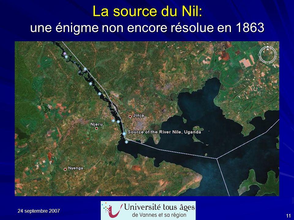 24 septembre 2007 11 La source du Nil: une énigme non encore résolue en 1863 (Extrait du chapitre XVIII)