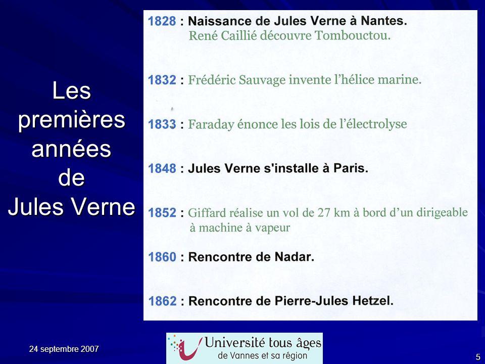 24 septembre 2007 5 Les premières années de Jules Verne
