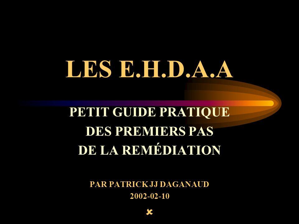 LES E.H.D.A.A PETIT GUIDE PRATIQUE DES PREMIERS PAS DE LA REMÉDIATION PAR PATRICK JJ DAGANAUD 2002-02-10