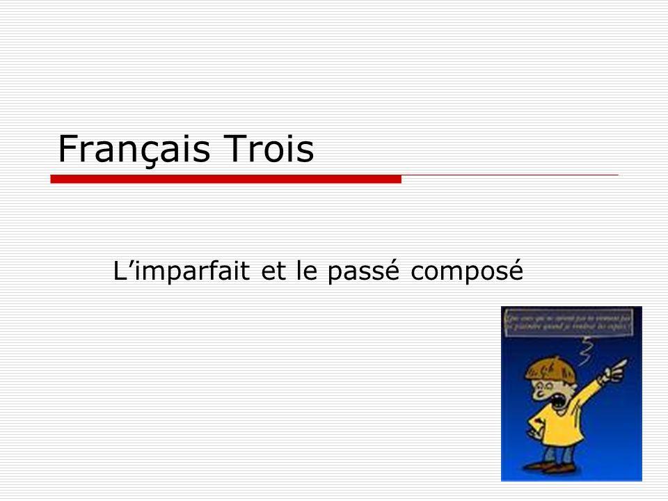 Français Trois Limparfait et le passé composé