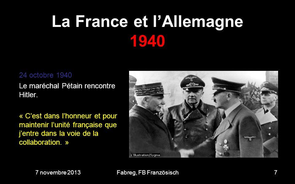 La France et lAllemagne 1942 11 novembre 1942 occupation de la « zone libre ».