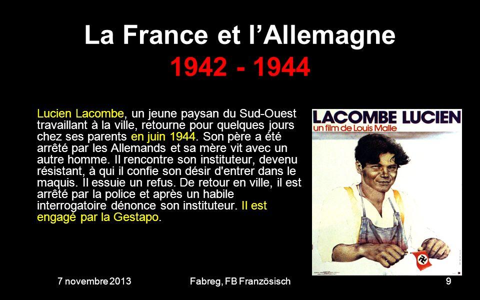 La France et lAllemagne avant et après le 10 juin 1944 7 novembre 201320Fabreg, FB Französisch