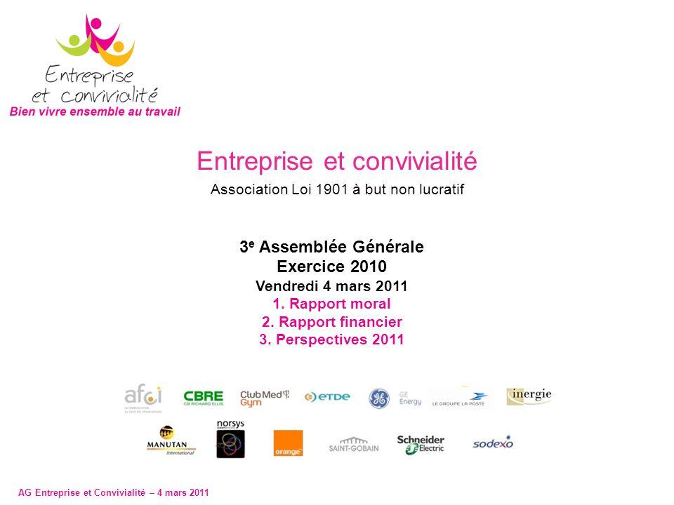 AG Entreprise et Convivialité – 4 mars 2011 2 1.1.