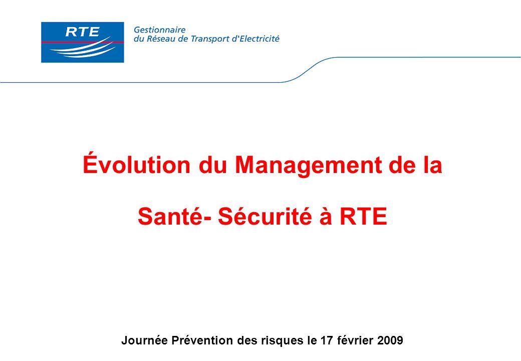 Évolution du Management de la Santé- Sécurité à RTE Journée Prévention des risques le 17 février 2009