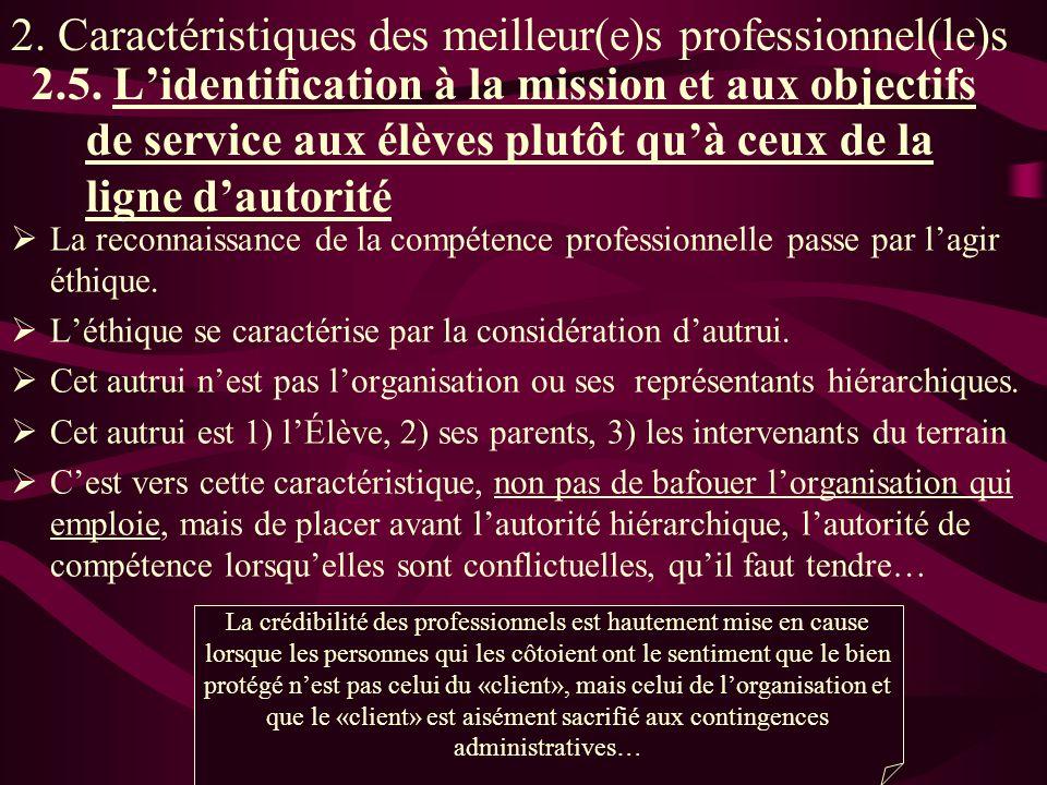 La reconnaissance de la compétence professionnelle passe par lagir éthique.