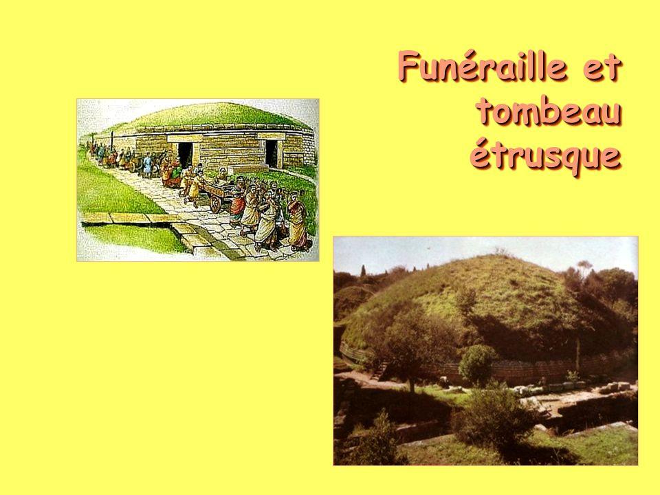 Funéraille et tombeau étrusque
