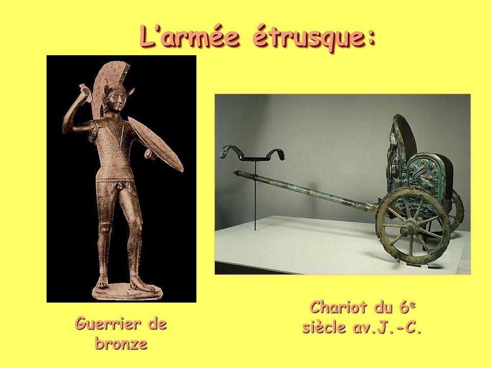 Larmée étrusque: Guerrier de bronze Chariot du 6 e siècle av.J.-C.
