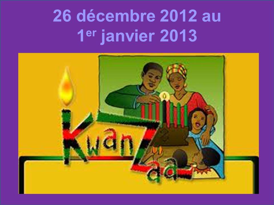 26 décembre 2012 au 1 er janvier 2013