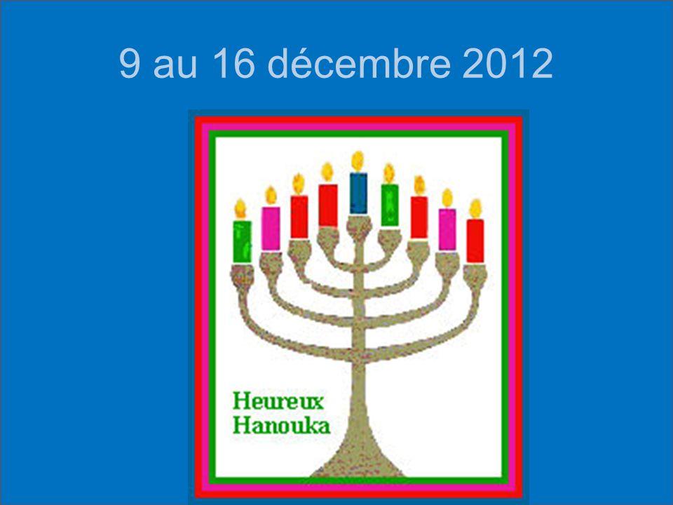 9 au 16 décembre 2012
