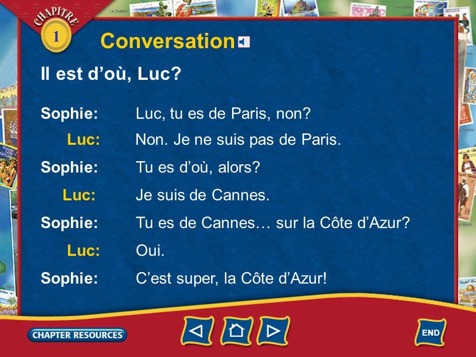 1 3. Doù est Vincent? Answer: Vincent est de Paris. 4. Chloé est brune ou blonde? Answer: Chloé est brune. 5. Il est quelle heure? Answer: Il est neuf