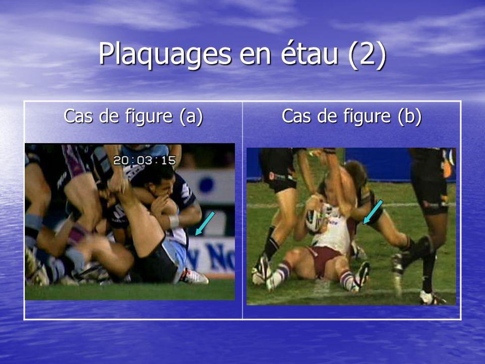 Plaquages en étau (2) Cas de figure (a) Cas de figure (b)