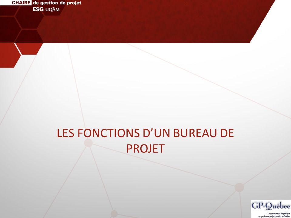 LES FONCTIONS DUN BUREAU DE PROJET