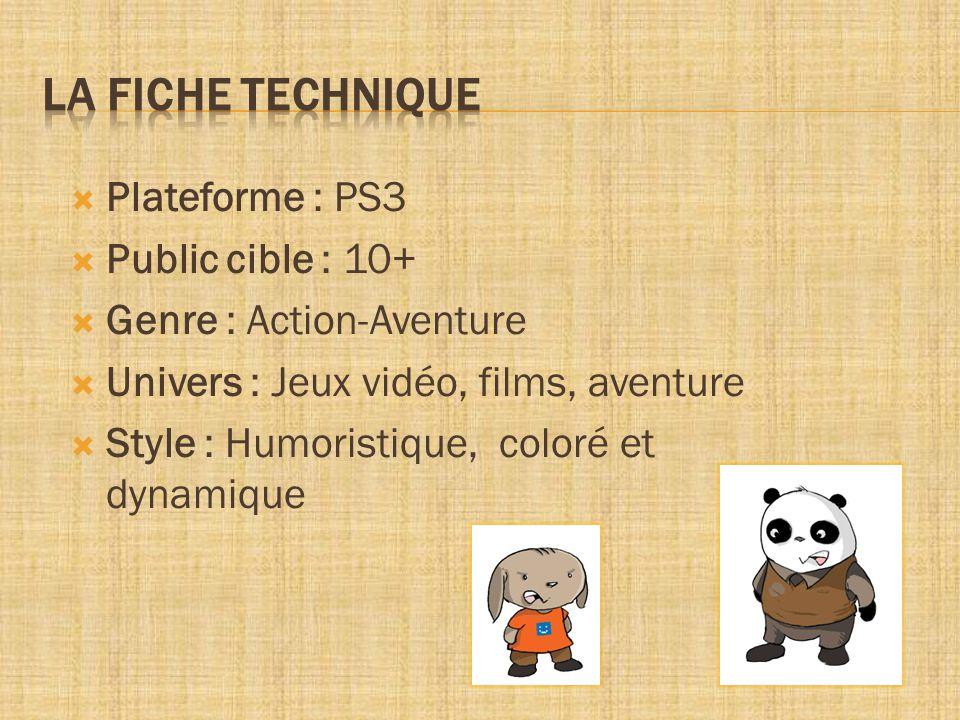 Plateforme : PS3 Public cible : 10+ Genre : Action-Aventure Univers : Jeux vidéo, films, aventure Style : Humoristique, coloré et dynamique