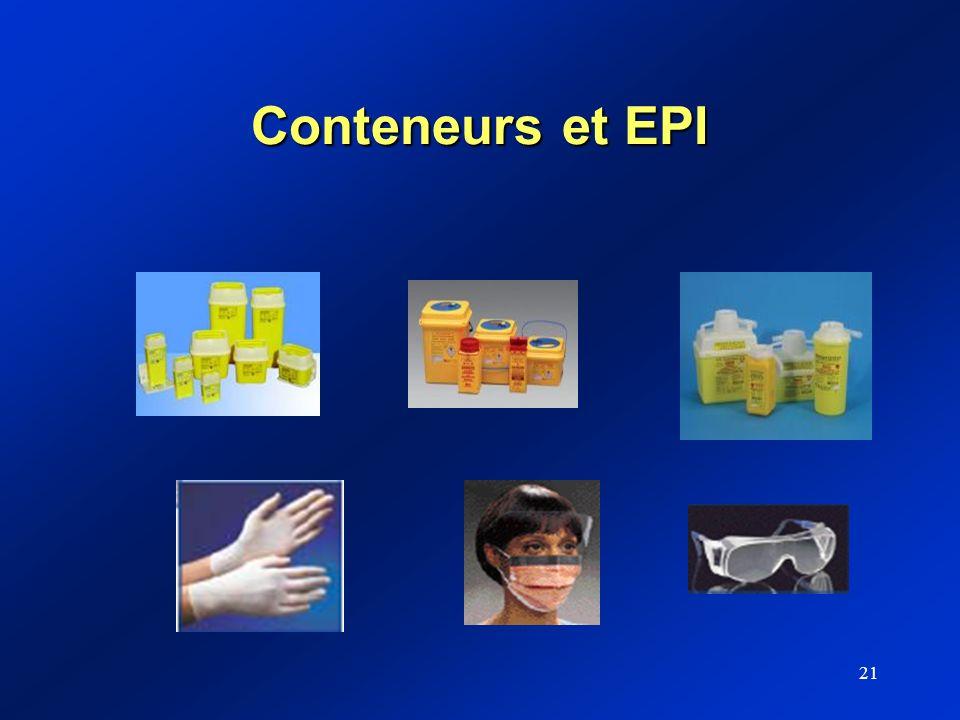 21 Conteneurs et EPI