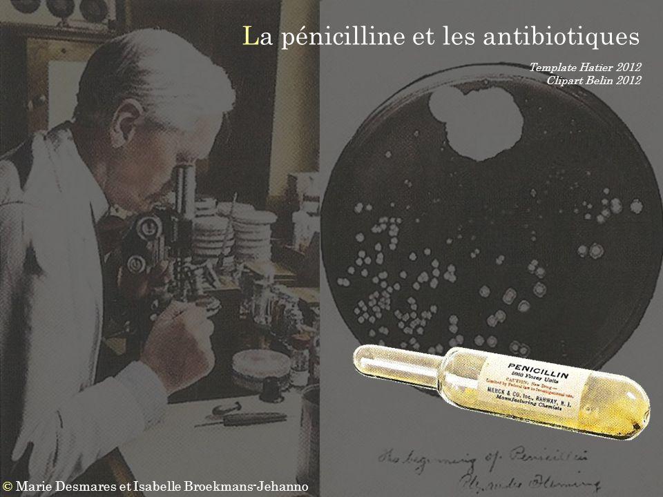 La pénicilline et les antibiotiques © Marie Desmares et Isabelle Broekmans-Jehanno Template Hatier 2012 Clipart Belin 2012