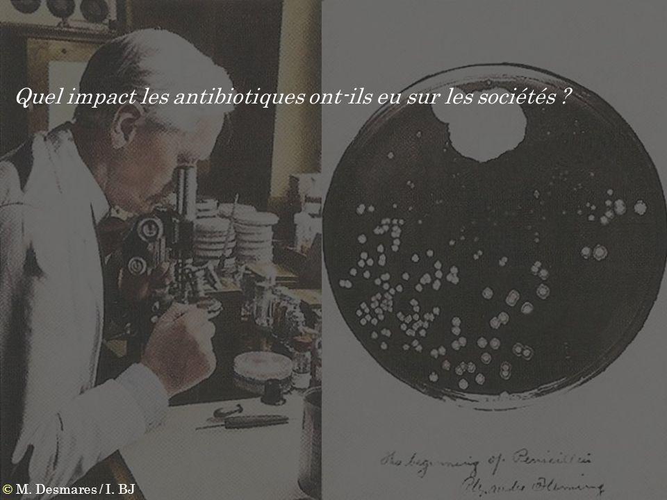 © M. Desmares / I. BJ Quel impact les antibiotiques ont-ils eu sur les sociétés ?