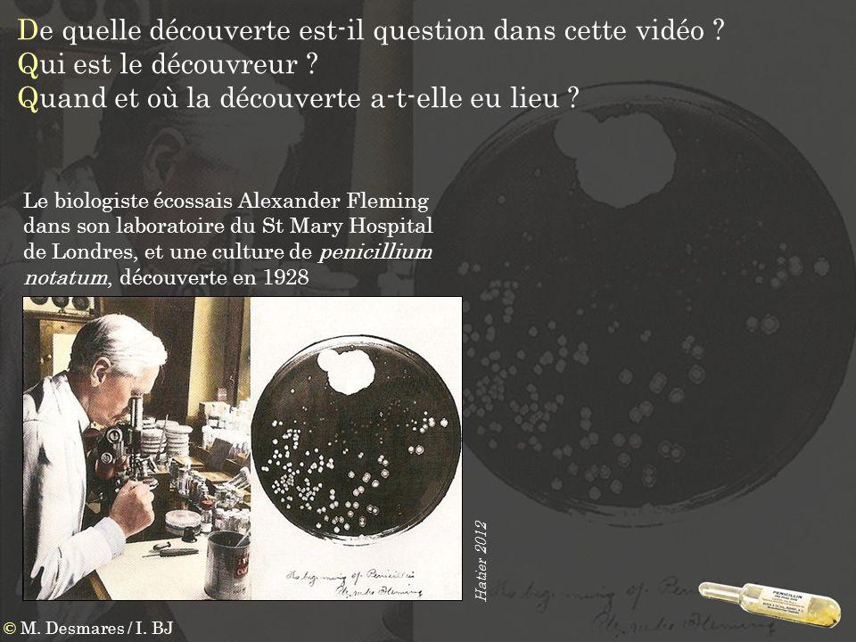 De quelle découverte est-il question dans cette vidéo ? Qui est le découvreur ? Quand et où la découverte a-t-elle eu lieu ? Le biologiste écossais Al