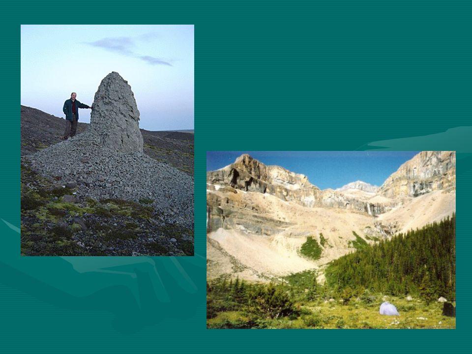 L érosion causer par le vent Les vents violents peuvent entrainer le sable et même des particules de roche.