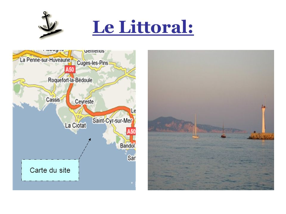 Le Littoral: Carte du site