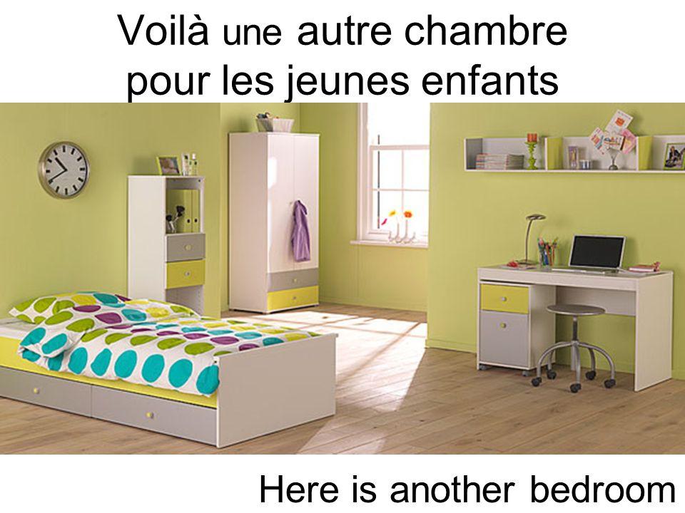 Voilà une autre chambre pour les jeunes enfants Here is another bedroom