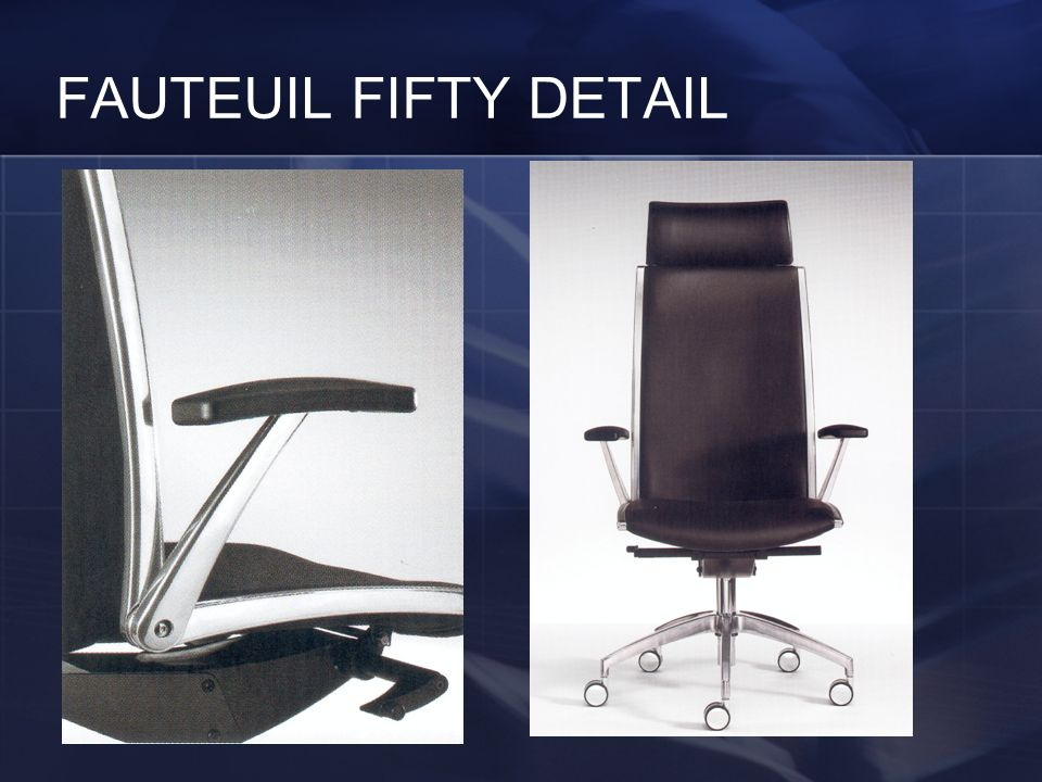 FAUTEUIL FIFTY DETAIL