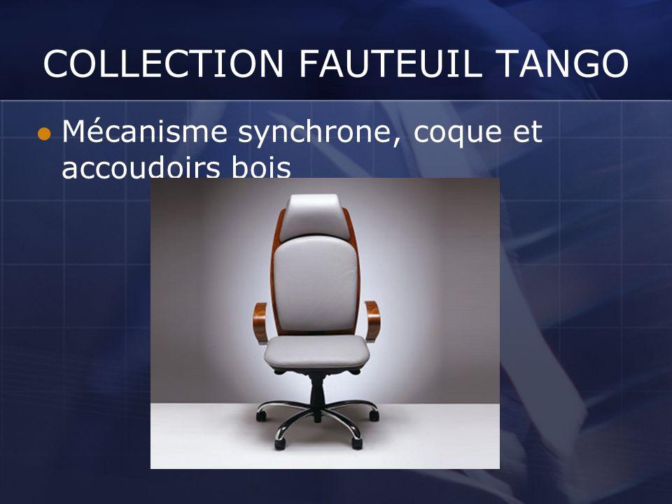 COLLECTION FAUTEUIL TANGO Mécanisme synchrone, coque et accoudoirs bois