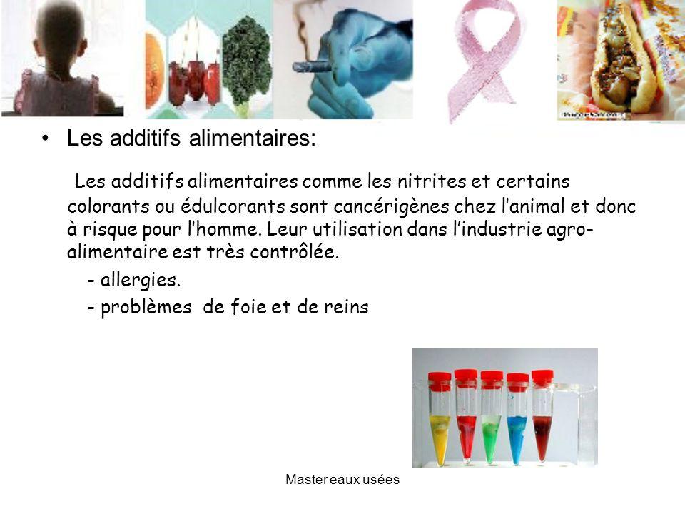 Les additifs alimentaires: Les additifs alimentaires comme les nitrites et certains colorants ou édulcorants sont cancérigènes chez lanimal et donc à